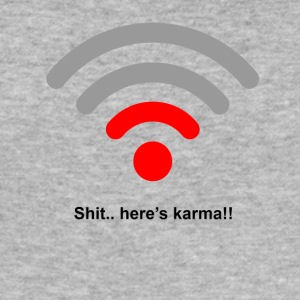 Heres karma - Men's Slim Fit T-Shirt