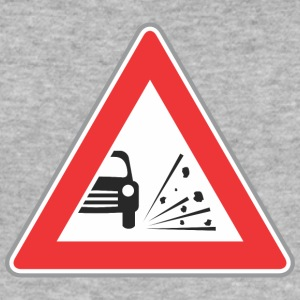 Road sign stone under car wheels - Men's Slim Fit T-Shirt