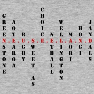 New Zealand Scrabble rød - Herre Slim Fit T-Shirt