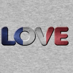 I LOVE FRANCE France - Slim Fit T-skjorte for menn