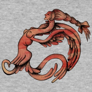 Chimera of Woman and Bird - Men's Slim Fit T-Shirt