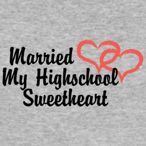 Just Married My High School Sweetheart - Slim Fit T-shirt herr