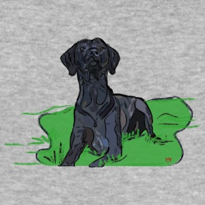 zwarte hond - slim fit T-shirt