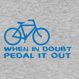 Bicycle: When in doubt, pedal it out. - Men's Slim Fit T-Shirt