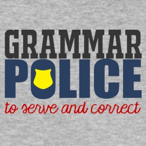 Polizei: Grammar Police to serve and correct - Männer Slim Fit T-Shirt