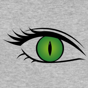 Wild cat eye green - Männer Slim Fit T-Shirt