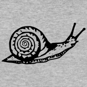 Snail black and withe - Men's Slim Fit T-Shirt