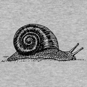 Black and withe snail - Männer Slim Fit T-Shirt