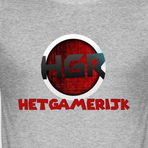 HetGameRijk logo + tekst - Slim Fit T-skjorte for menn