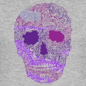 Ornement-Skull-in-Purple - Tee shirt près du corps Homme