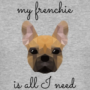 my frenchie is all I need - low poly style - Männer Slim Fit T-Shirt