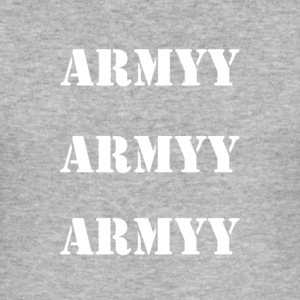 army white words - Men's Slim Fit T-Shirt