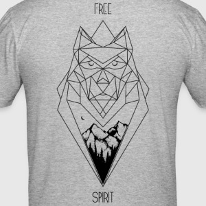 Wolf Design (niet 3D) - slim fit T-shirt