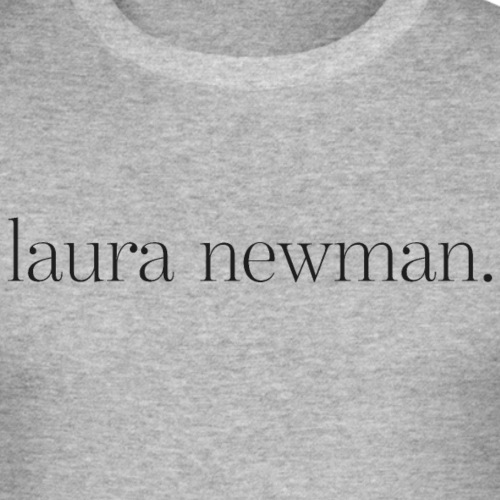 laura newman. Logo | dark - Männer Slim Fit T-Shirt
