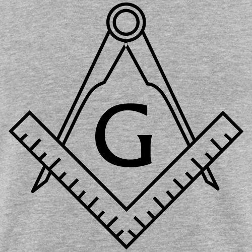 2B1ASK1 Masonic Coffee Mug (white) - Men's Slim Fit T-Shirt