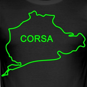 Corsa Nürburg-ring path - Men's Slim Fit T-Shirt