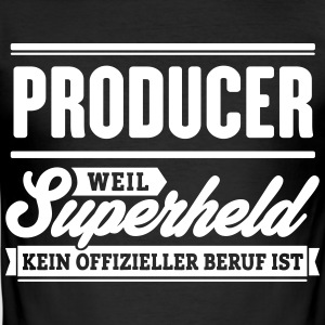 Superheld Producer - Männer Slim Fit T-Shirt