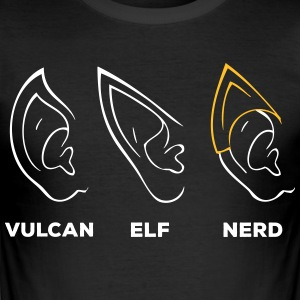 Vulcan Elf Ear Nerd - Men's Slim Fit T-Shirt