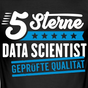 5Sterne Data Scientist - Männer Slim Fit T-Shirt