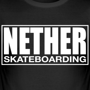 Nether Skateboard T-Shirt Schwarz - Männer Slim Fit T-Shirt