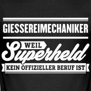 Superheld Giessereimechaniker - Männer Slim Fit T-Shirt