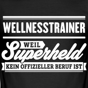 Superheld Wellnesstrainer - Männer Slim Fit T-Shirt