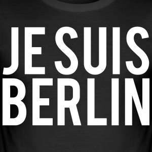 Je Suis BERLIN. Jeg er Berlin - Slim Fit T-skjorte for menn