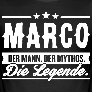 Mann Mythos Legende Marco - Männer Slim Fit T-Shirt