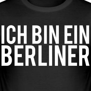 JEG ER EN BERLINER - Slim Fit T-skjorte for menn