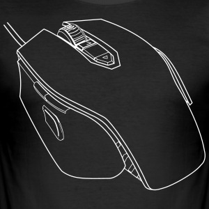 Gaming Mouse - Herre Slim Fit T-Shirt