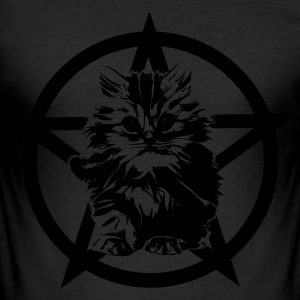 Satanic Kitten - Männer Slim Fit T-Shirt