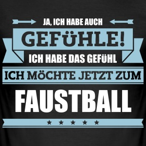 Lustiger Faustball Spruch - Männer Slim Fit T-Shirt