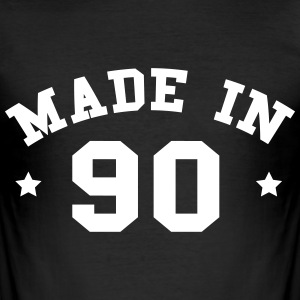 made in 90 - Männer Slim Fit T-Shirt