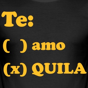Tequila Te amo - Men's Slim Fit T-Shirt