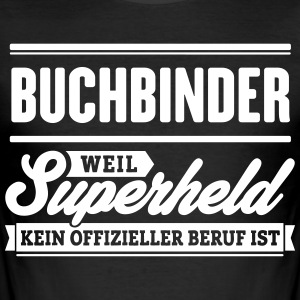 Superheld Buchbinder - Männer Slim Fit T-Shirt