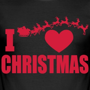 I love Christmas - Men's Slim Fit T-Shirt