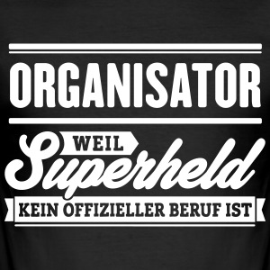 Superheld Organisator - Männer Slim Fit T-Shirt