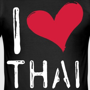 I Love Thailand - Men's Slim Fit T-Shirt