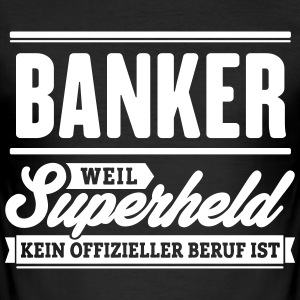 Superheld Banker - Männer Slim Fit T-Shirt