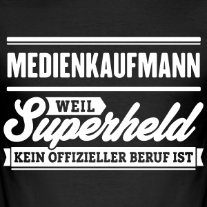 Superheld Medienkaufmann - Männer Slim Fit T-Shirt