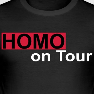 homo on tour - Men's Slim Fit T-Shirt