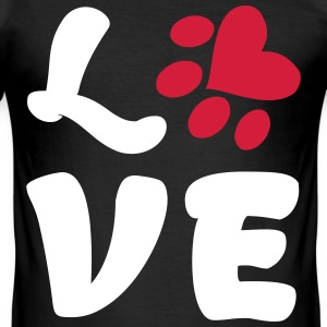 LOVE DOGS - Men's Slim Fit T-Shirt