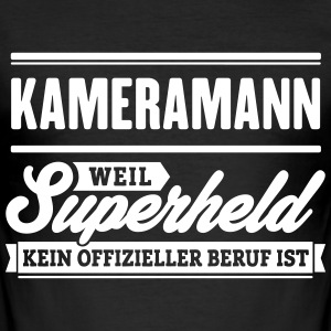 Superheld Kameramann - Männer Slim Fit T-Shirt