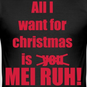 calm Christmas song saying my - Men's Slim Fit T-Shirt