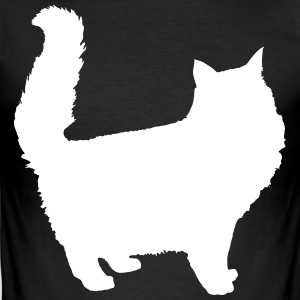 Longhaired cat - Choose your color! - Men's Slim Fit T-Shirt