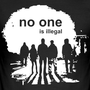 no one is illegal - Men's Slim Fit T-Shirt