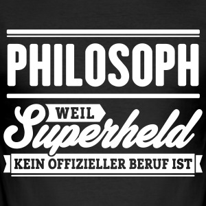 Superheld Philosoph - Männer Slim Fit T-Shirt