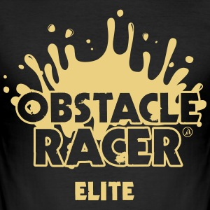 Racer Elite Obstacle - Männer Slim Fit T-Shirt
