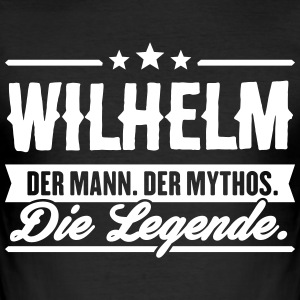 Mann Mythos Legende Wilhelm - Männer Slim Fit T-Shirt
