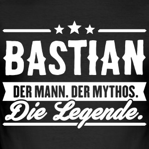 Man Myth Legend Bastian - Men's Slim Fit T-Shirt